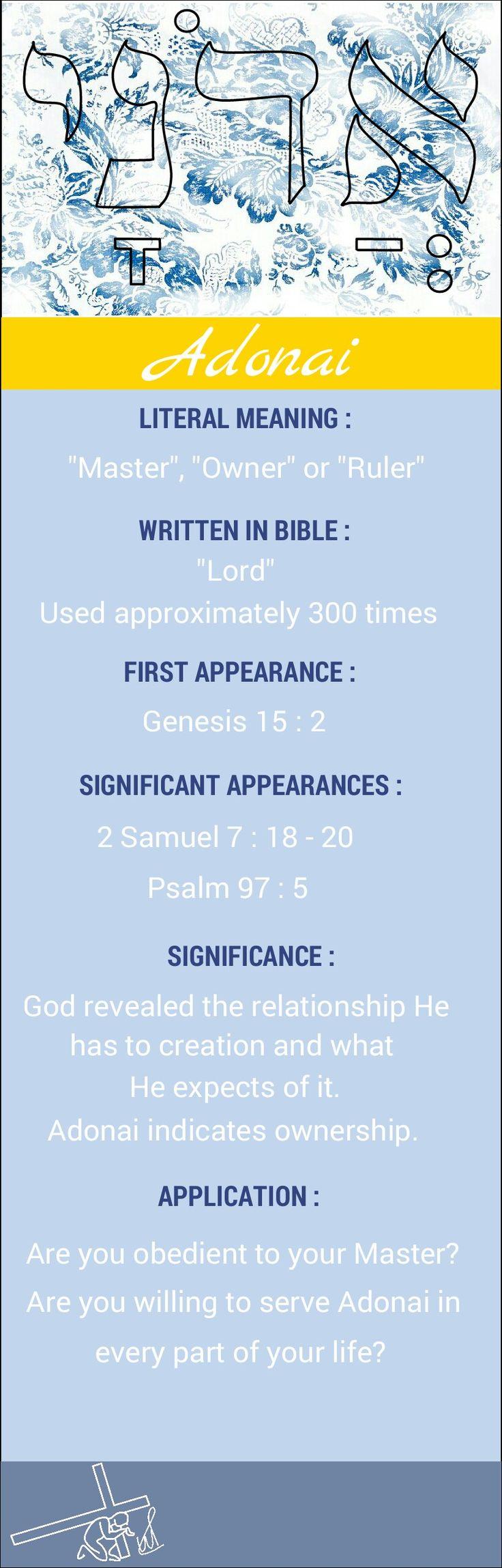 Names of God Adonai Lord