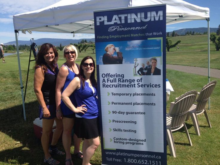 Platinum Personnel: PLATINUM Personnel is a company that sources recruitment solutions for employers in Canada. The team at Platinum had some fun at the June 2016 Canadian Home Builders Association golf tournament, but didn't miss a golden opportunity to promote their services.