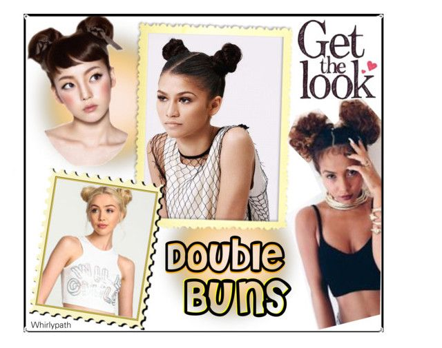 Double Buns! by whirlypath on Polyvore featuring beauty and Disney
