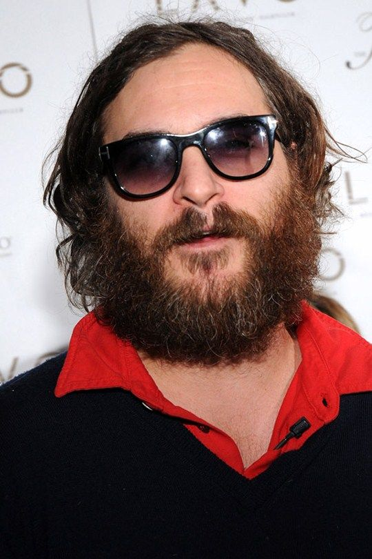 Joaquin Phoenix   ...Although this shot might have been enough to convince you otherwise. Are you there under all that hair, Joaquin? He's doing a very good Justin Lee Collins impression here.