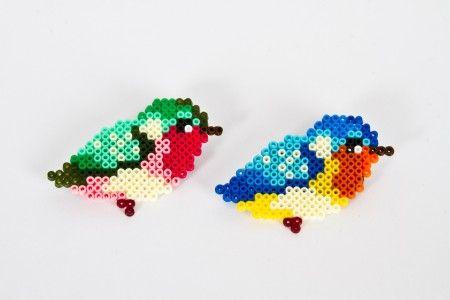 cute little birds with Perler beads