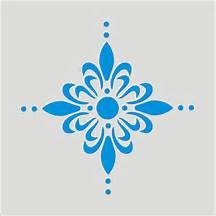 Simple Damask Pattern Stencil Damask border stencils. toile wall ...