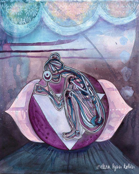 Yoga Art Third Eye Chakra Print