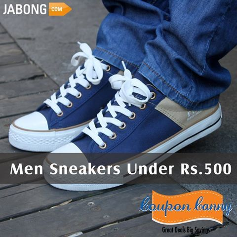 #Men #Sneakers Under Rs.500 at #Jabong! Claim Now : http://www.couponcanny.in/jabong-coupons/