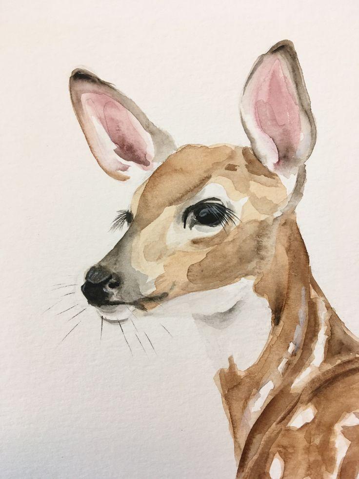 Fawn Kirsten Dill Watercolor Etsy Sonoranwatercolors Bk Raey Bk