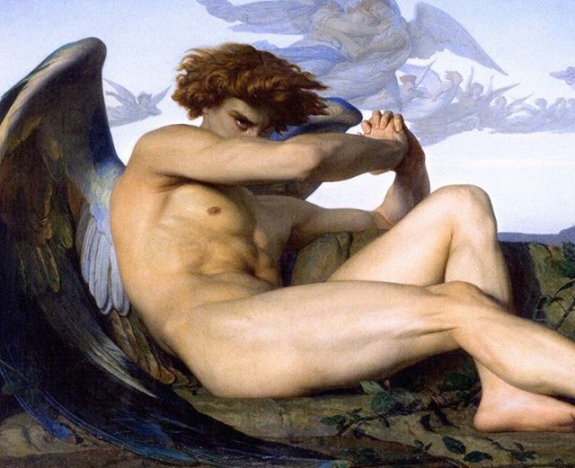 Fallen Angel by Alexandre Cabanel #art #paintingsdaily #arthistory #historyofart