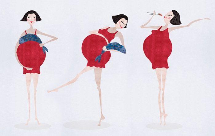 Pregnant lady illustration