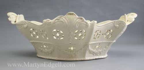 Creamware basket, circa 1780. More stock available at www.martynedgell.com