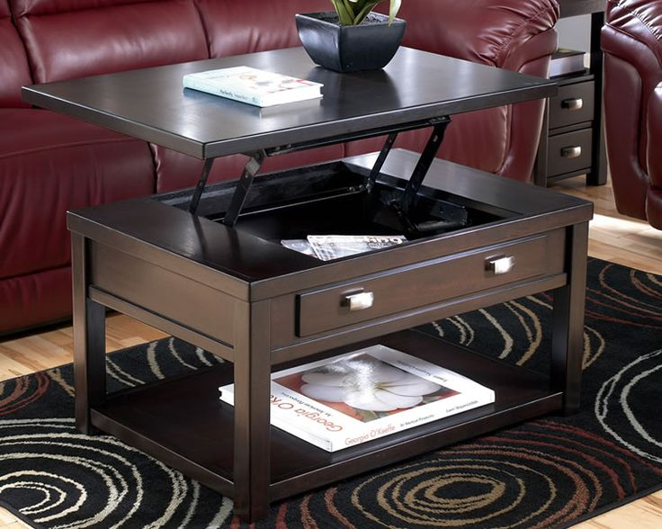 Coffee Table With Lift Up Top For Eating Or Working On The Couch