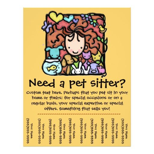 37 best pet sitting business cards images on pinterest carte de pet sitter promotional tear sheet flyer colourmoves