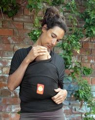 Hana Baby Wrap Carrier - Charcoal (Bamboo & Organic Cotton)