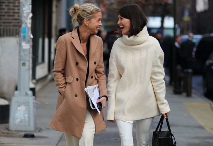 """""""Seriously!?!""""Fashion Weeks, Camel, Friends, White Sweaters, Winter White, Street Style, New York Fashion, White Jeans, Coats"""