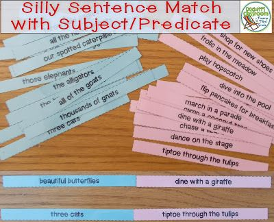 Teaching sentence structure just got super silly!  Check out how to introduce the subject and predicate of a sentence in an engaging and interactive way.