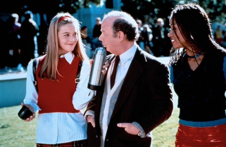 Alicia Silverstone (as Cher Horowitz), Wallace Shawn (as Wendell Hall) and Stacey Dash (as Dionne Davenport) Clueless (1995) #clueless #1995 #90smovies #AliciaSilverstone #StaceyDash