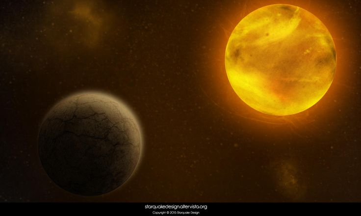 Space Art #1 - July 2014 This is my very first attempt of a space art without using any pre-existing picture. #spaceart #planet #rockyplanet #sun #starquakedesign