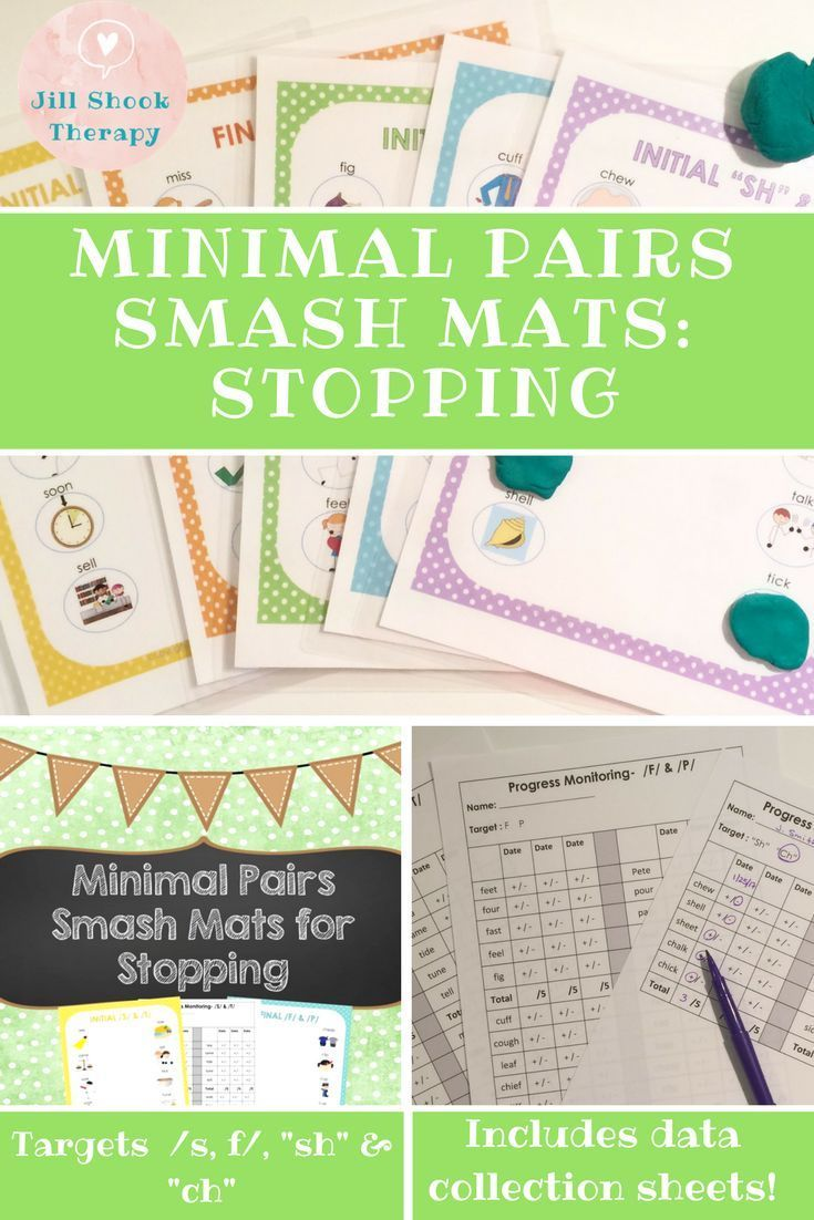 Minimal Pairs Smash Mats For Articulation And Phonology Stopping