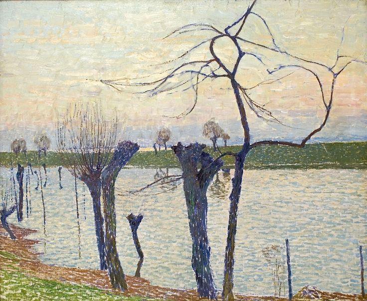 Max Clarenbach, FLUSSLANDSCHAFT MIT WEIDEN, Auktion 953 Gemälde des 15. - 19. Jh., Lot 54