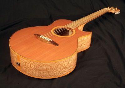 Chris Larkin Guitars - Leonardo ASAPCAW Irish Lacewood  The Inspiration.