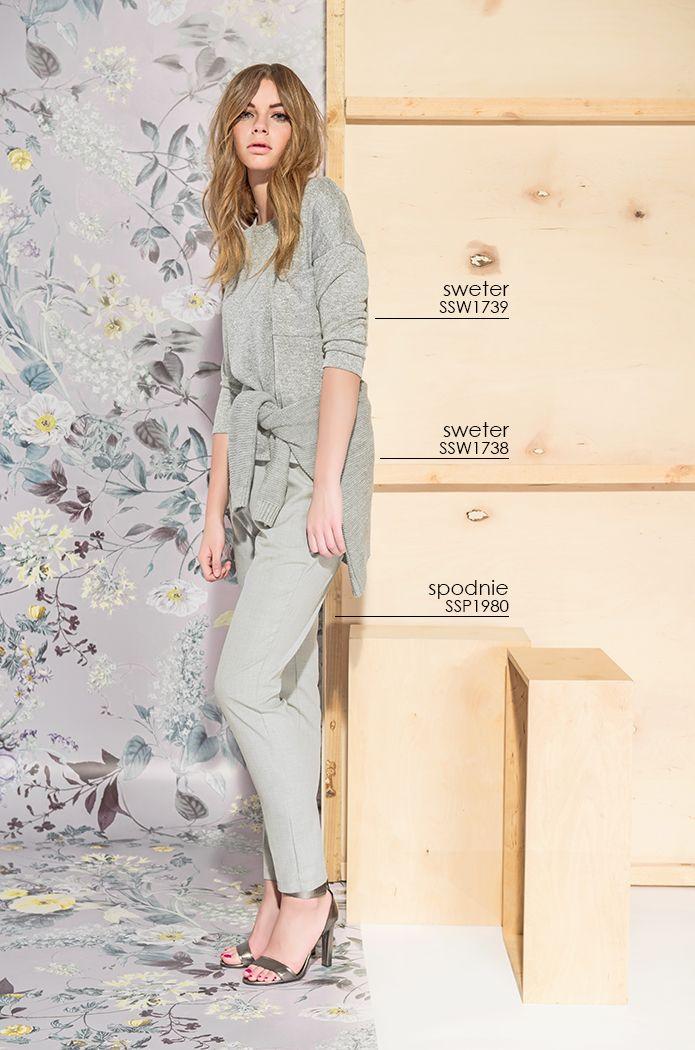 Dłuższy #sweter i eleganckie #spodnie - ponadczasowy i wygodny strój do pracy