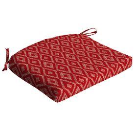 Garden Treasures Red Diamond Ruby Geometric Seat Pad For Universal Tg2