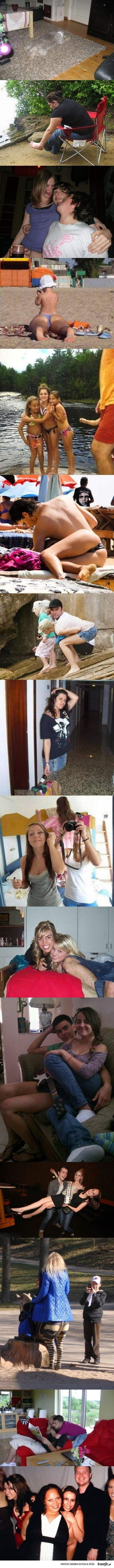Hilarious camera angles and awkward positioning