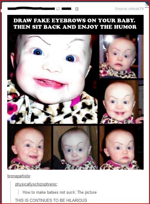 This: | Proof That Tumblr Users Should Never Have Children. The one in the bottom right corner looks like David Tennant