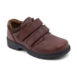 Rotate, Brown Leather Boys Riptape School Shoes http://www.startriteshoes.com/school-shoes/