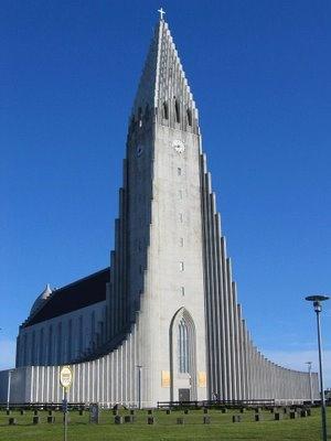Igreja luterana - Reykjavik, Islândia