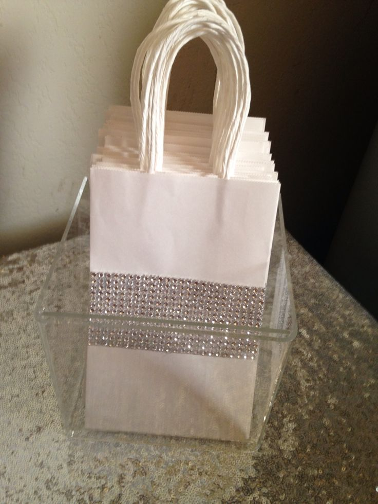Candy buffet diamond bags