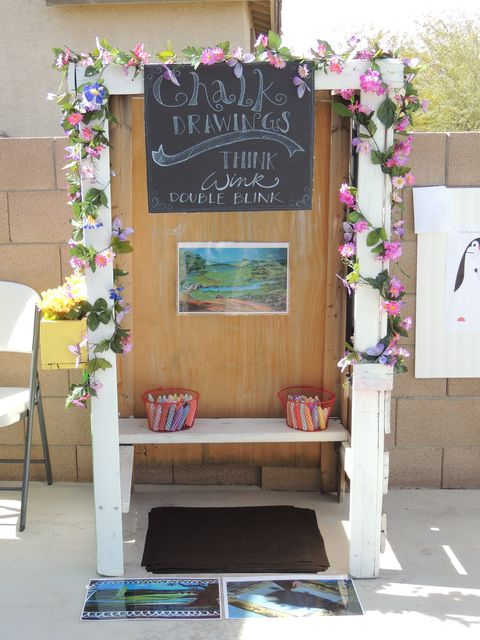 Ivy's Practically Perfect Mary Poppins Birthday Party - Burt's Sidewalk Drawing