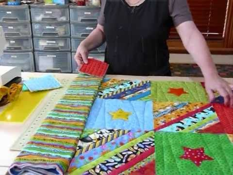 ▶ How to prepare Borders for a Quilt as you Go quilt - Quilting Tips & Techniques 073 - YouTube