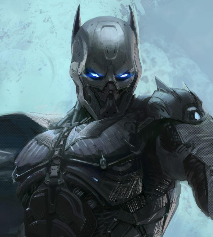 Batman redeign, Daeyoon Huh on ArtStation at https://www.artstation.com/artwork/DzR5e