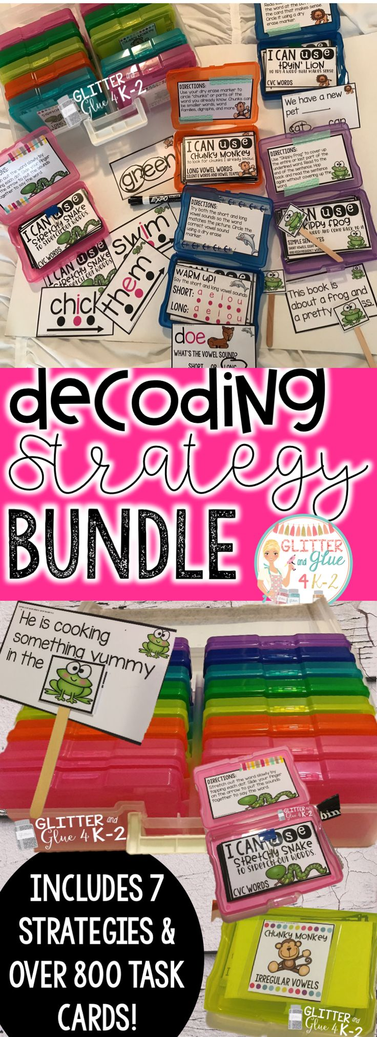 I am so excited to finally have this resource available to share with you and your students! :) This is a great way to start off your guided reading time or you can use the cards as an extra intervention! Strategies included are: stretchy snake, lips the fish, tryin' lion, eagle eye, skippy frog, chunky monkey, and flippy dolphin. If you want to see more be sure to check out the preview and be sure to read over the rest of product description below! :) Check out the video link below to watch…