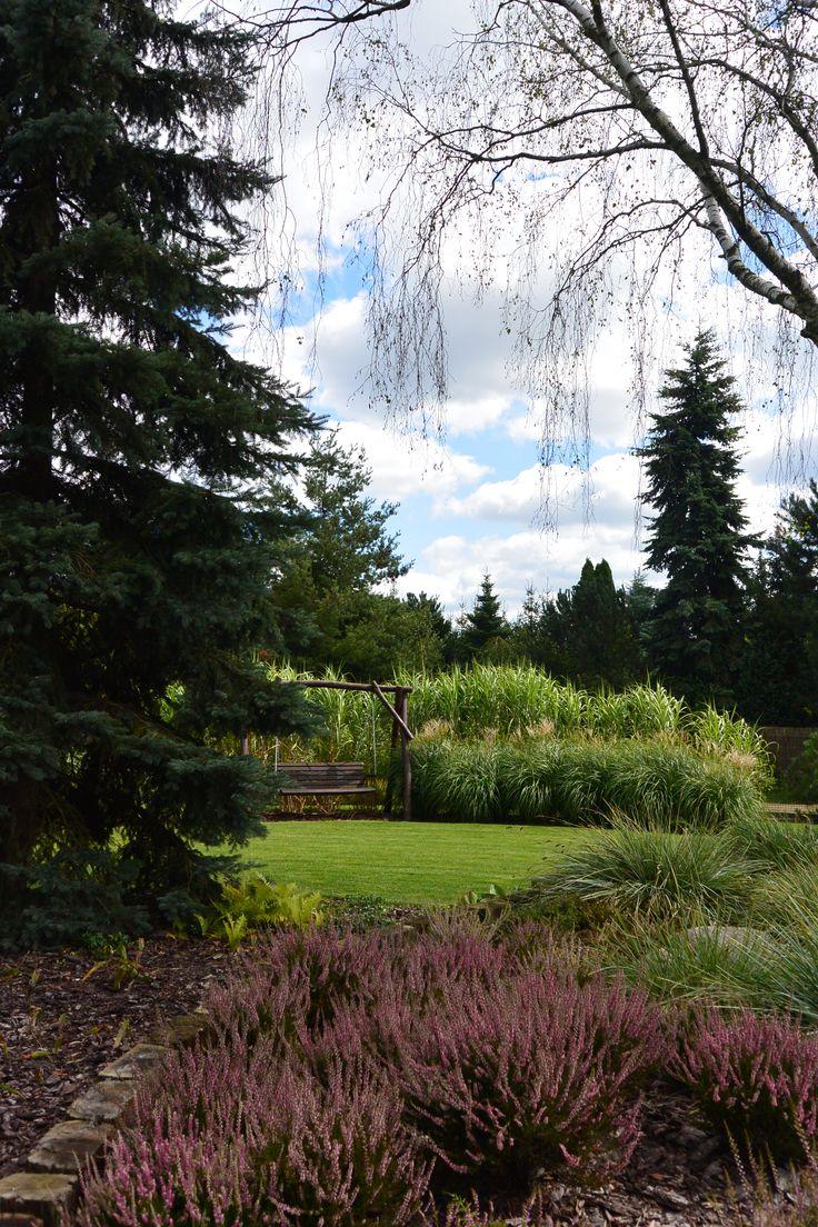 Ogród z wrzosowiskiem.