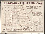 Lakemba, Begg's Hill Estate. Sales plan for land in the suburb of Lakemba (now Roselands) in Sydney, bordered by Penhurst Road, Shorter Street, Shorter Avenue, and Canary Road. Courtesy National Library of Australia.