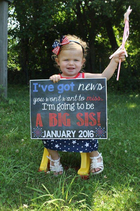 july 4th pregnancy reveal      pregnancy announcement      big