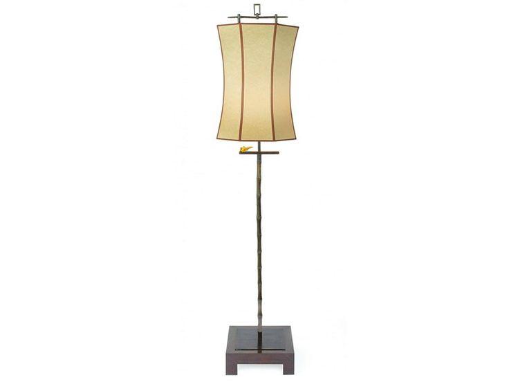Luminária de pé em bambu 61000   Luminária de pé - Tisserant