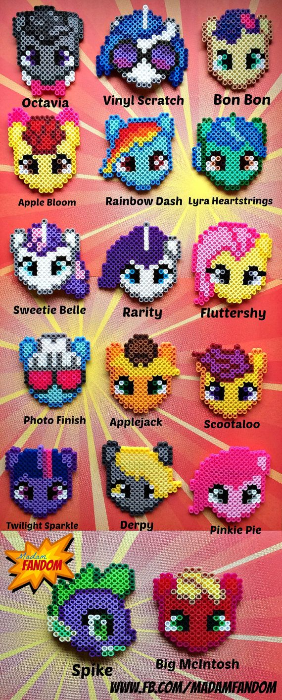 My Little Pony perler