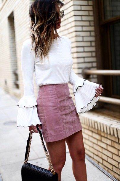 bell sleeves + mini