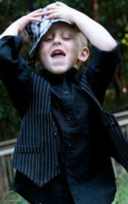 Playful stripes boys suit #boyssuit #pinstripesuit #suitsale #sale