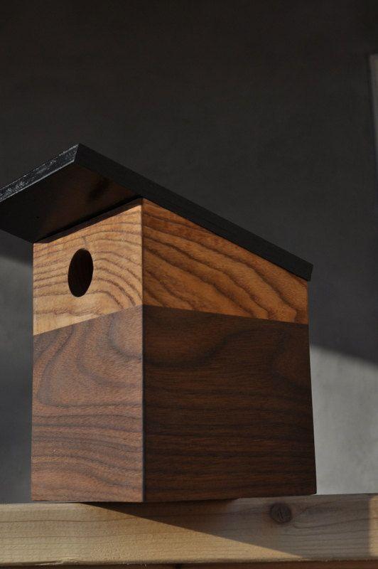 Modern Bird House  Chickadee No 2 by modernnestco on Etsy