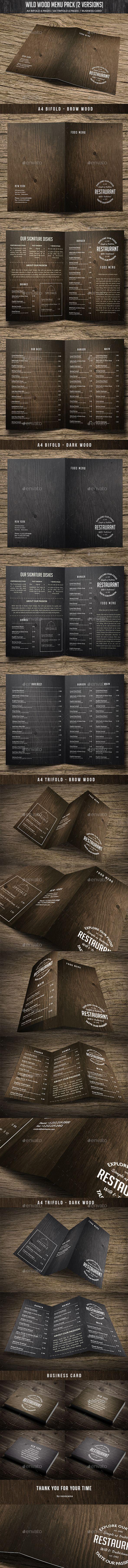 Wild Wood Menu Pack (2 Versions Bundle)