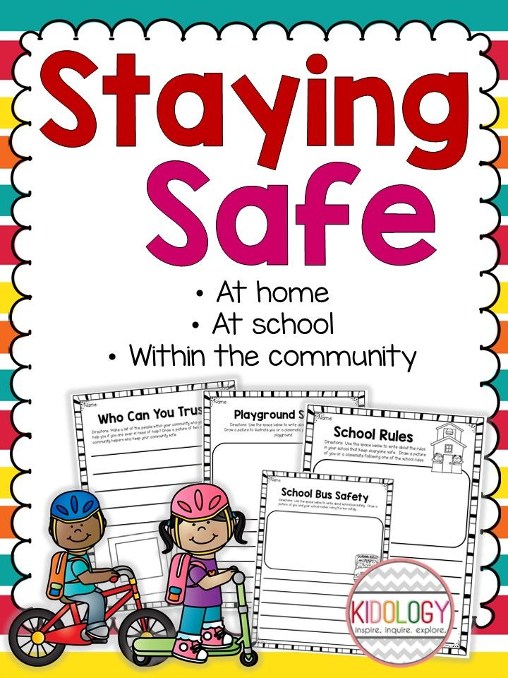 Safety at school, at home or in the community.  These print and go pages work great as supplement to your curriculum.  Great for Kindergarten, grade one or grade two.  $