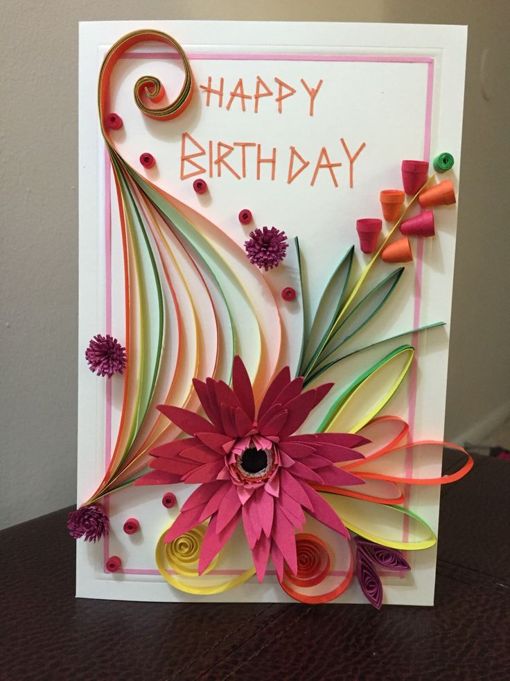 birthday card_quilling