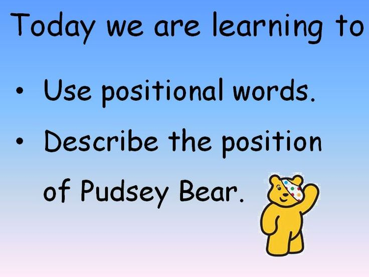 Help pupils point out where Pudsey is in this PowerPoint presentation that helps them practise positional language.