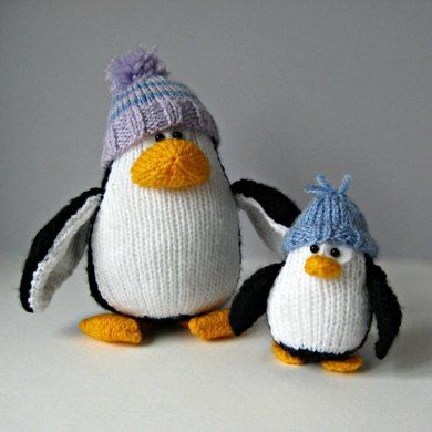 Bobble and Bubble Penguins Knitting pattern by Amanda Berry | Knitting Patterns | LoveKnitting