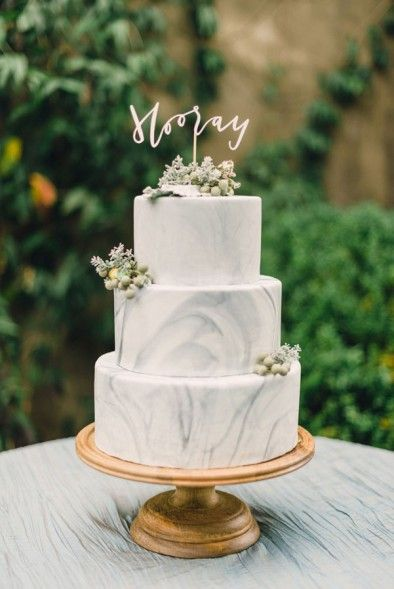 #marble #weddingcake #hooray - Inspiration for a Tuscan Wedding Theme