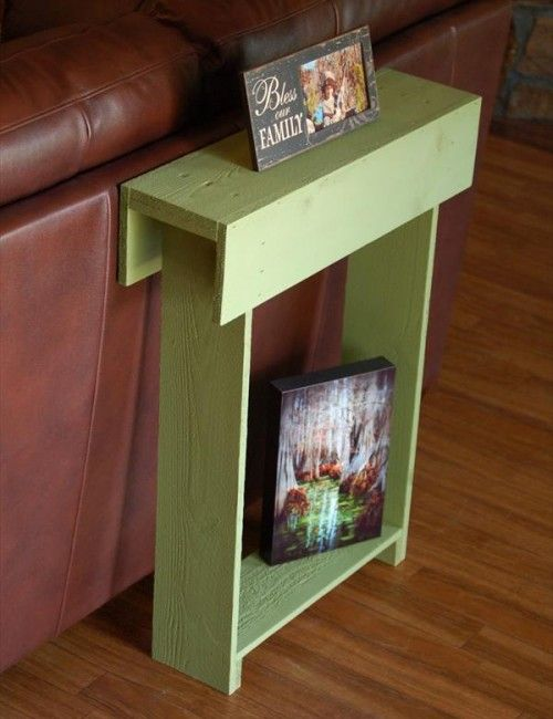 small narrow coffee table can be placed in front of the multimedia system