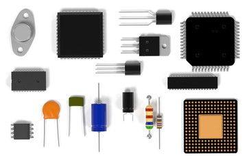 3d rendering of computer parts
