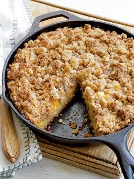 Fresh Peach Crumb Coffee Cake : Recipes : Cooking Channel